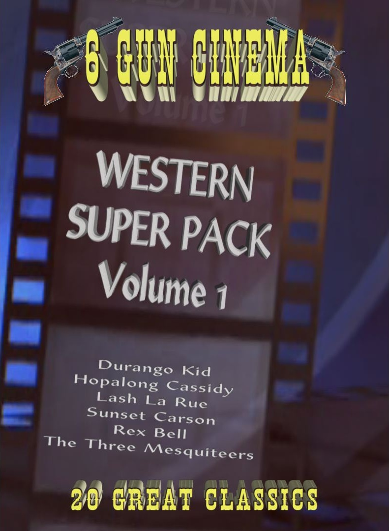 6 Gun Cinema Western Super Pack Vol 1 ~ 7 DVD ~ 20 movies