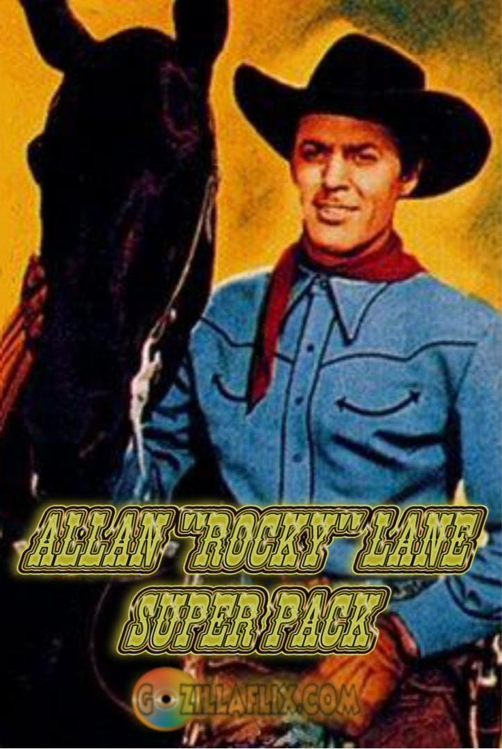 "Allan ""Rocky"" Lane Super Pack 11 DVD ~ 51 Great Westerns"